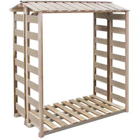 Firewood Storage Shed 150x100x176 cm FSC Impregnated Pinewood