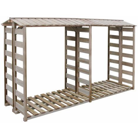 Firewood Storage Shed 300x100x176 cm FSC Impregnated Pinewood