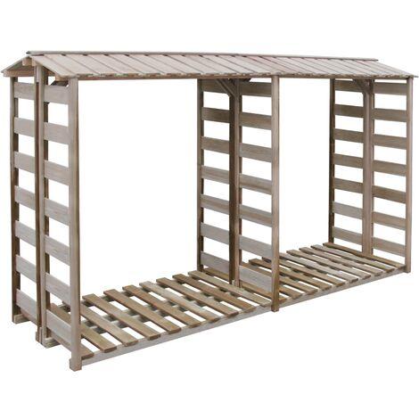 Firewood Storage Shed 300x100x176 cm Impregnated Pinewood