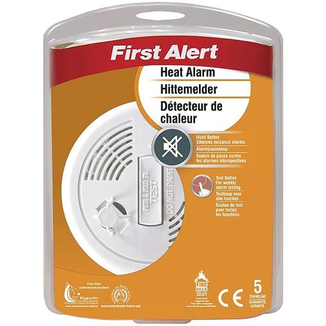 First Alert Battery Operated Kitchen Heat Alarm Fire Detector