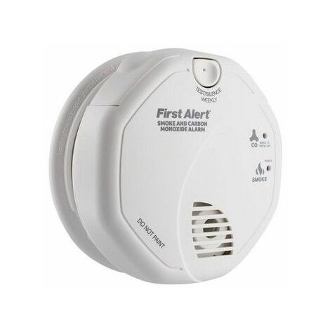 First Alert SCO5UK Combination Carbon Monoxide & Smoke Alarm - AA Batteries