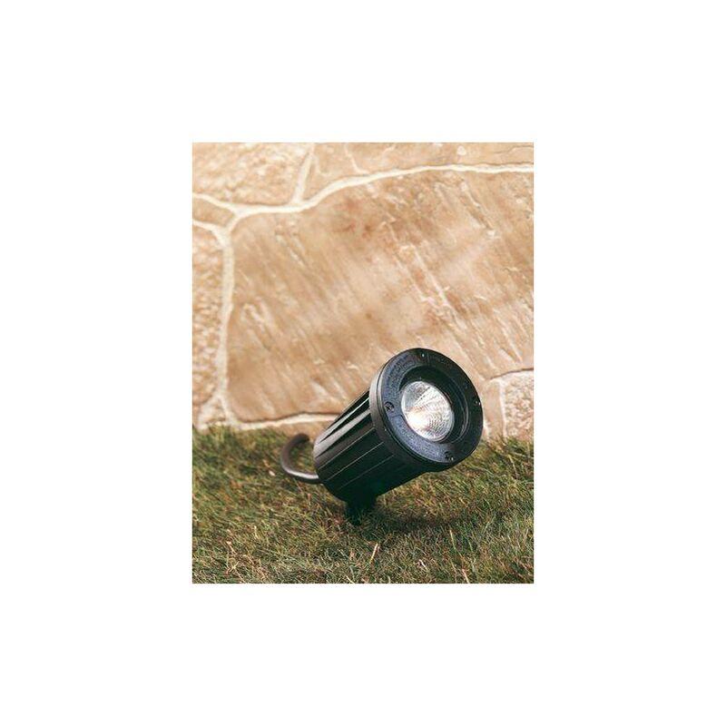 Image of 1 Light Gu10 Spike Spot - 50W Black IP66 - Firstlight