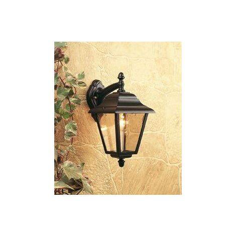 Firstlight - 1 Light Outdoor 4 Panel Lantern - Downlight Black IP43, E27