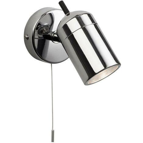 Firstlight Atlantic - 1 Light Single Switched Bathroom Ceiling Spotlight Chrome IP44, GU10