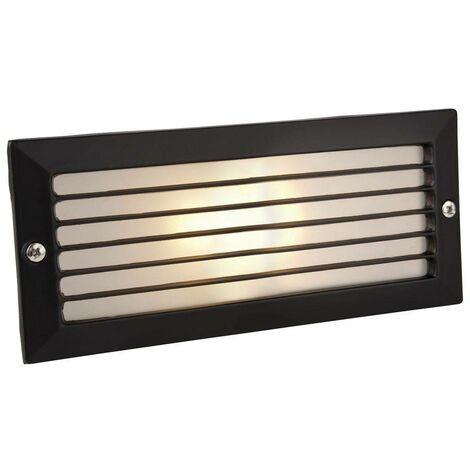 Firstlight Brick - 1 Light Outdoor Brick Light Outdoor - With Louvre Black, Opal Glass IP54, E27