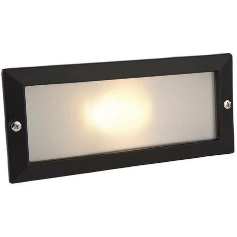 Firstlight Brick - 1 Light Outdoor Brick Light Outdoor - Without Louvre Black, Opal Glass IP54, E27