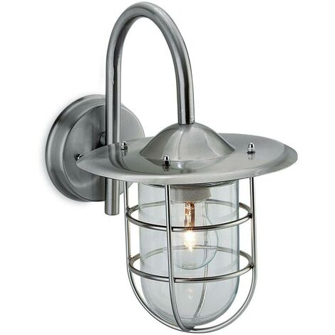 Firstlight Cage - 1 Light Wall Light Stainless Steel IP44, E27