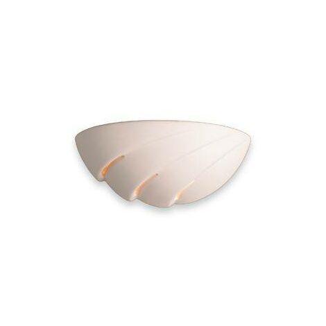 Firstlight Ceramic - 1 Light Ceramic Indoor Wall Uplighter - 100W Unglazed, E27