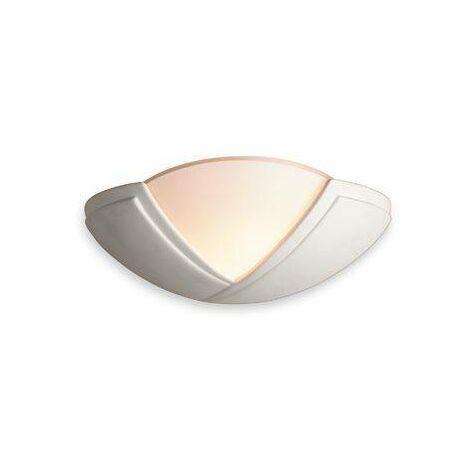 Firstlight Ceramic - 1 Light Indoor Wall Uplighter - 100W Unglazed, Acid White Glass, E27