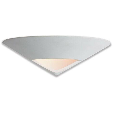 Firstlight Ceramic - 1 Light Indoor Wall Uplighter - 100w Unglazed, Acid Whote Glass, E27