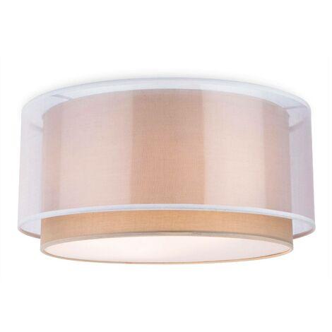 Firstlight Chicago - 3 Light Flush Light Taupe, E27