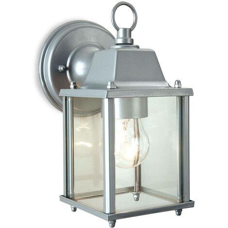 Firstlight Coach - 1 Light Lantern - Wall Light Silver, E27
