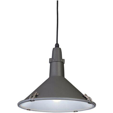 Firstlight Eden - 1 Light Dome Ceiling Pendant Grey IP44, E27