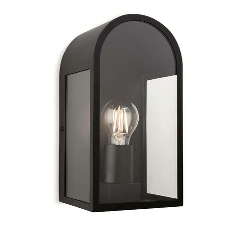 Firstlight Eva - 1 Light Outdoor Wall Lantern Black IP44, E27