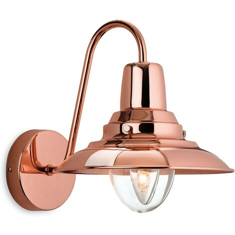 Firstlight Fisherman - 1 Light Indoor Wall Light Copper, Clear Glass, E14
