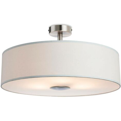 Firstlight Madison - 3 Light Semi Flush Light Cream, E27