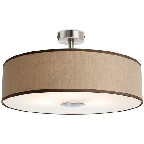 Firstlight Madison - 3 Light Semi Flush Light Taupe, E27