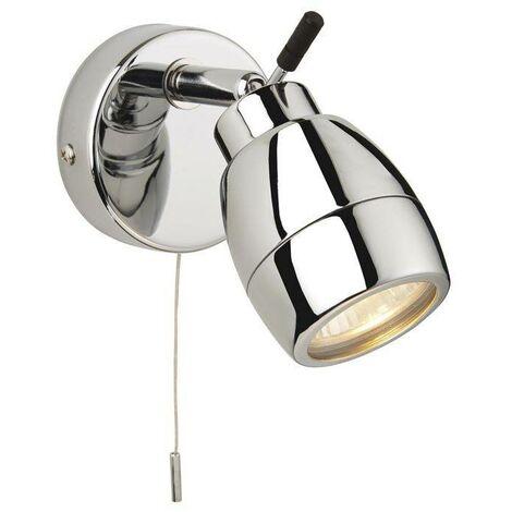 Firstlight Marine - 1 Light Single Switched Bathroom Ceiling Spotlight Chrome IP44, GU10