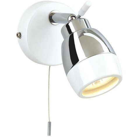 Firstlight Marine - 1 Light Single Switched Bathroom Ceiling Spotlight White, Chrome IP44, GU10