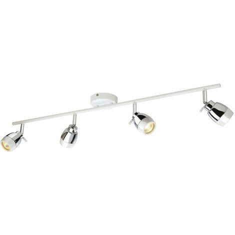 Firstlight Marine - 4 Light Spotlights Bar Bathroom Ceiling Light White, Chrome IP44, GU10