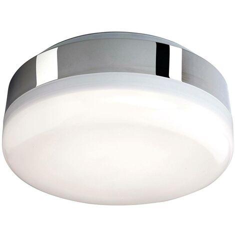 Firstlight Mini - LED Bathroom Ceiling Flush Light Chrome, White Polycarbonate Diffuser IP44