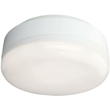 Firstlight Mini - LED Bathroom Ceiling Flush Light White, White Polycarbonate Diffuser IP44