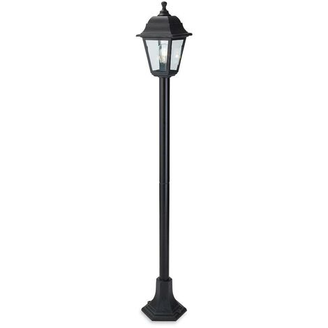 Firstlight Oslo - 1 Light Post Lantern Black Resin IP44, E27