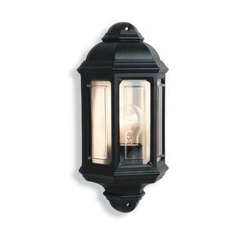 Firstlight Outdoor - 1 Light Outdoor Wall Lantern Black IP44, E27
