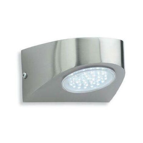 Firstlight Pisa - LED Outdoor Wall Light Stainless Steel, White IP44