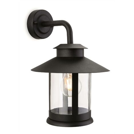 Firstlight Roma - 1 Light Outdoor Wall Lantern Black IP44, E27