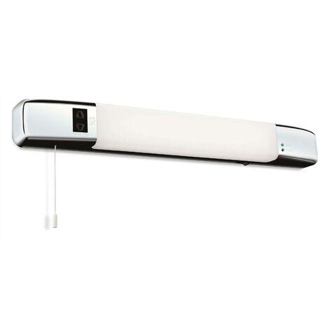 Firstlight Slimline - LED Bathroom Shaver Light (Switched) Chrome