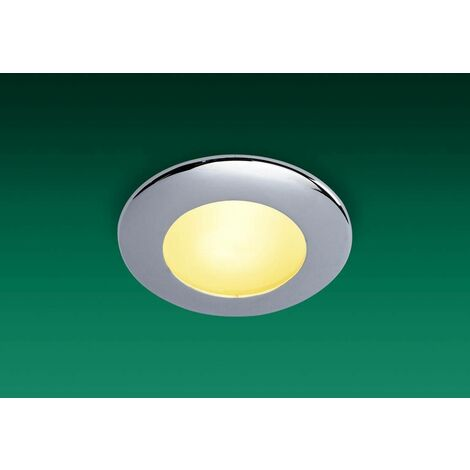 Firstlight Sonar - 1 Light Bathroom Ceiling Downlight Chrome IP64