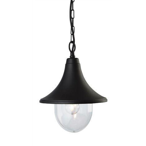 Firstlight Station - 1 Light Outdoor Lantern - Pendant Black Die Cast Aluminium IP44, E27
