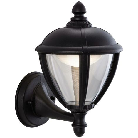 Firstlight Unite - LED Outdoor Wall Lantern Uplight Black IP44