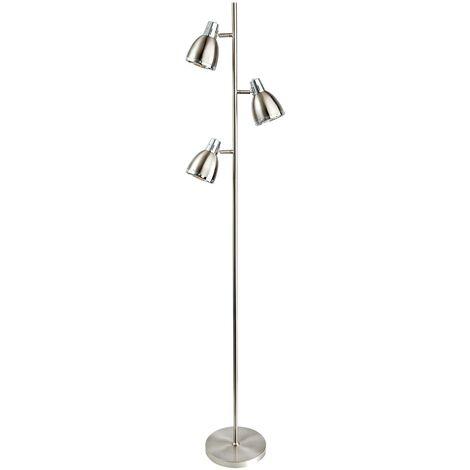 Firstlight Vogue - 3 Light Floor Lamp Brushed Steel, Chrome, E14