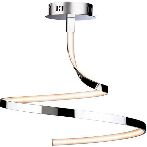 Firstlight Wave - Integrated LED Semi Flush Light Chrome