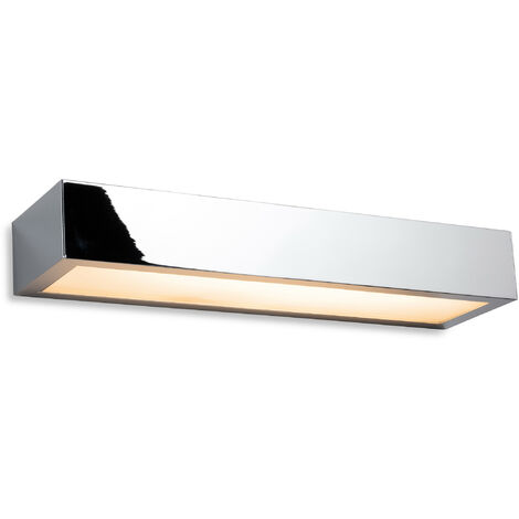 """main image of """"Firstlight Zulu Bathroom Down Light LED Wall Light - 300mm Chrome with Opal Glass Diffuser IP44"""""""