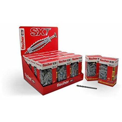 Fischer 100 Chevilles en nylon Sxt6 avec vis 4,5x40 mm