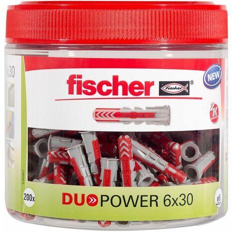 Fischer Cheville bi-matière DUOPOWER 6x30mm, 202 pièces - 535981