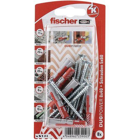 Set de chevilles 40 mm Fischer DUOPOWER 535215 1 set