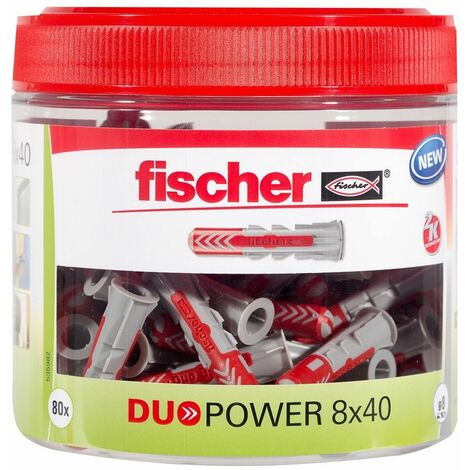 Fischer Cheville bi-matière DUOPOWER 8x40mm, 81 pièces - 535982
