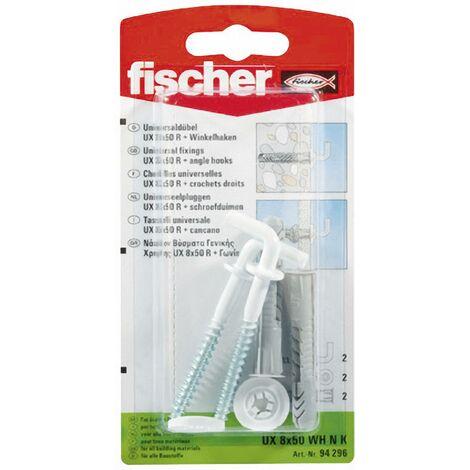 Fischer Chevilles universelles UX 8x50 WH N K Nylon 8 mm 2 pc(s) W46394