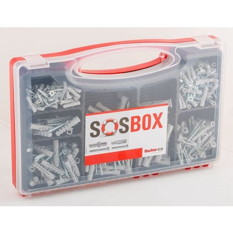 Fischer Dübel-SOS-Box 5,0 x 25, 6,0 x 30, 8,0x40, 6,0x35, 8,0x50, 10,0x60 mm, 180 teilig
