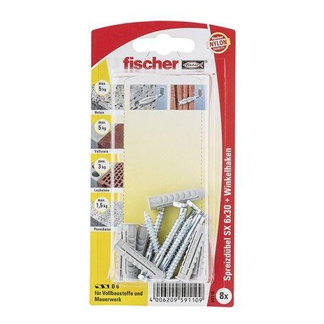 Fischer Dübel SX 6 x 30 WH mit Winkelhaken 8 Stück