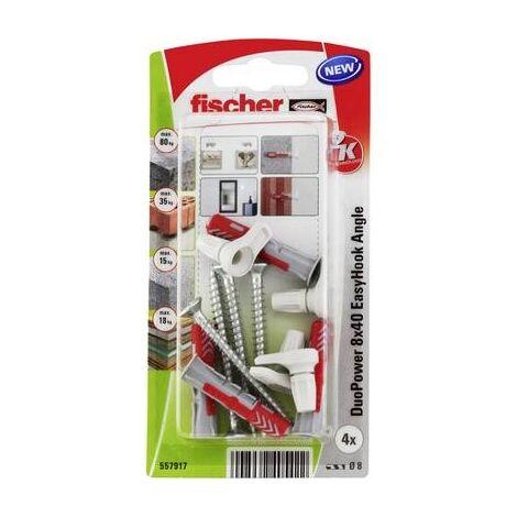 FISCHER DUOPOWER 8X40 EASYHOOK ANGLE K (4) ASSORTIMENT DE CHEVILLES 557917 557917 1 SET