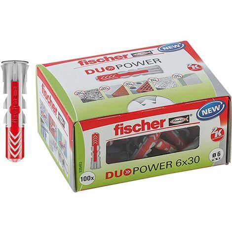 Fischer Duopower Dübel - Nylon grau/rot
