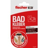fischer GOW Bad Kleber, 2 Stück, transparent