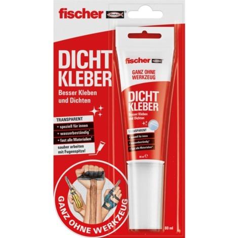 fischer GOW Dichtkleber transparent, Tube 80ml, Kleber