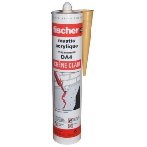 FISCHER - Mastic acrylique DA - chêne clair - 310 mL