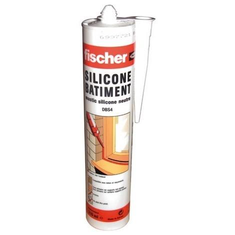 FISCHER - Mastic silicone DBS - blanc - 310 mL